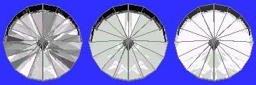 R.I. 1.76 - 41 degree pavilion, 16 degree crown 10 degrees tilt
