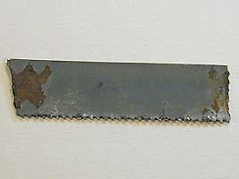 polishing laps - hacksaw blade