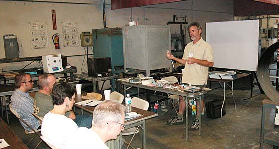 Carl Stanlet Lecturing/metal clay