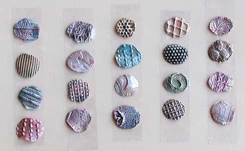 precious metal clay - textures 1