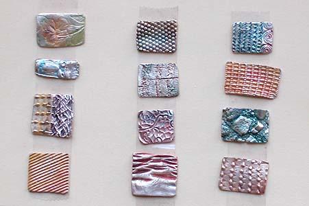 precious metal clay - textures 2