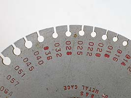 gem girdle thickness - range of gauge values