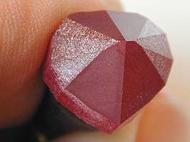 P1 and P3 cut to centerpoint - heart ruby