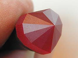 All facets fine cut with a 1,200-grit steel lap - heart ruby