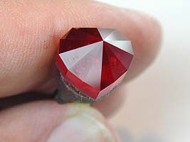 Pavilion and girdle polished to 50,000 - heart ruby