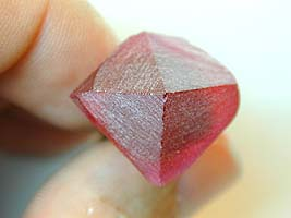 P1 and P2 facets - heart ruby