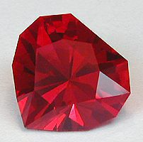"Man-Made Ruby ""Simple Heart"""