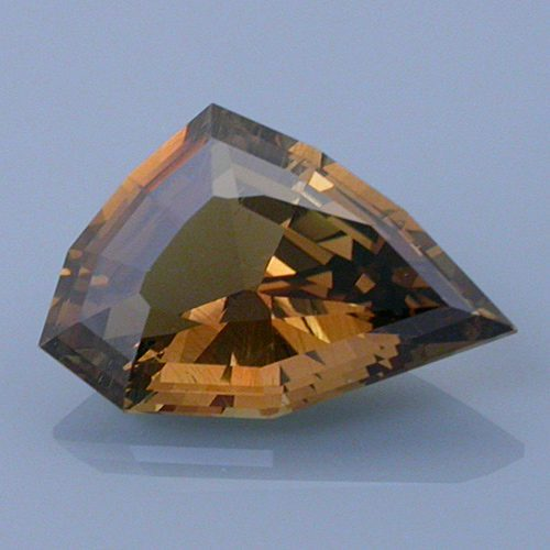Step Cut Freeform Cut Chrysoberyl, Likely Tanzania, 3.14 cts
