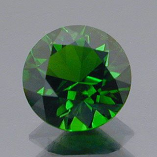 Round Brilliant Cut Chrome Diopside, Russia, 0.83 cts