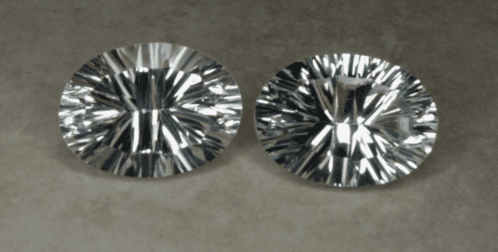 danburite ovals - oxide polish