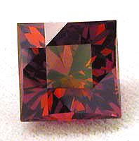 "Rose Malaya Garnet ""Chinese Checker"""