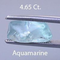 Rough version of Radiant Emerald Cut Aquamarine