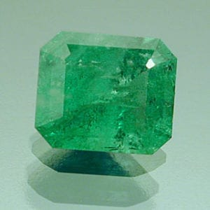 Emerald Cut Emerald with Inclusions
