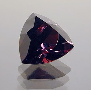 Trilliant Cut Garnet, India, 2.24 cts