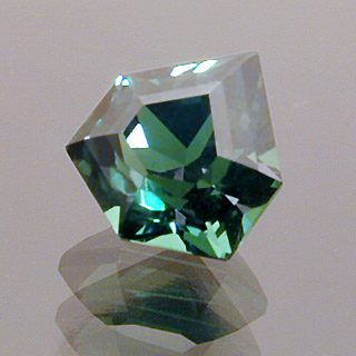Custom Shield Shape Cut Tsavorite Garnet, Africa, 0.90 cts