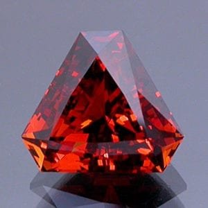 Mixed Scissor/Step Triangle Cut Spessartite Garnet