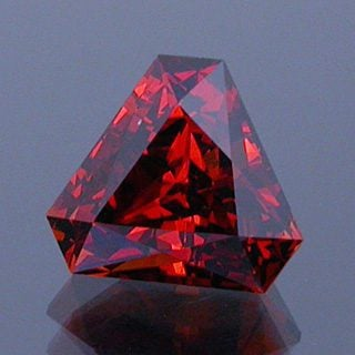 Cut Cornered Scissor Triangle Cut Spessartite Garnet