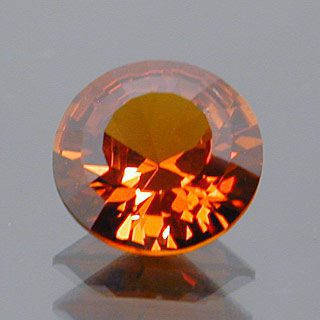 Round Brilliant with Step Cut Crown Cut Spessartite Garnet, Nigeria, 1.13 cts