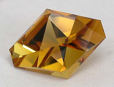 Diamond Back cut in Maderia Citrine by Tony Carson