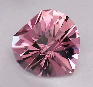 Pink Tourmaline Heart Squared