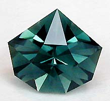 blue tourmaline Origami Star - cutting and selling gemstones