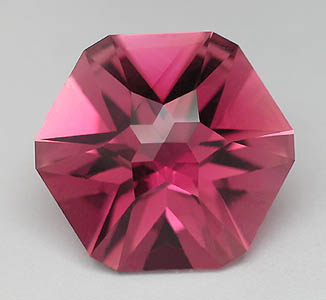 Tiger tape cut in Rubellite