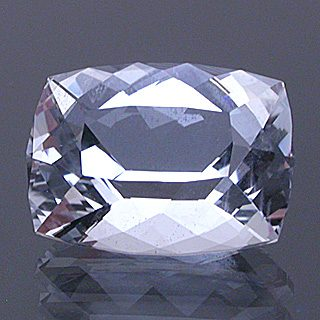 Portuguese Rectangular Cushion Cut Goshenite Beryl, Nigeria, 2.87 cts