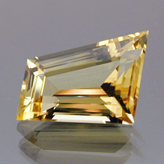 Step Cut Freeform Cut Golden Beryl-Heliodor, Russia, 2.49 cts