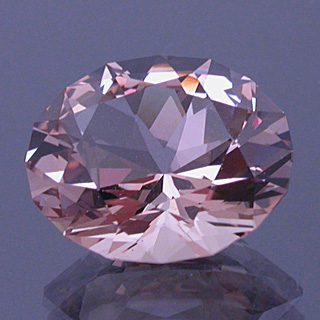 Brilliant Oval Cut Morganite Beryl, Brazil, 4.64 cts