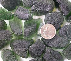 moldavite faceting rough