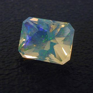 Fancy Emerald Shape Cut Fire Opal, Australia, 1.37 cts
