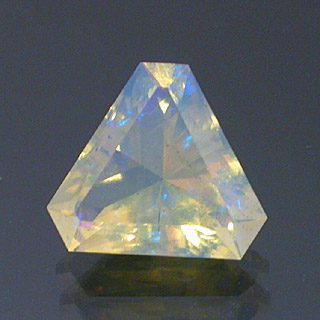 Cut Cornered Radiant Triangle Cut Andamooka Opal, Australia, 1.76 cts