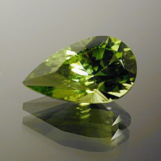 Elongated Pear Cut Peridot, Pakistan, 2.05 cts
