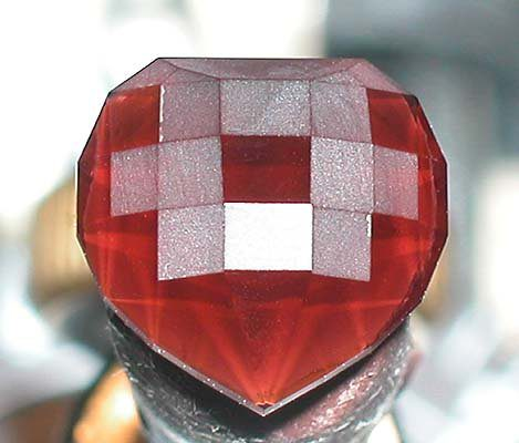 polished checkerboard heart