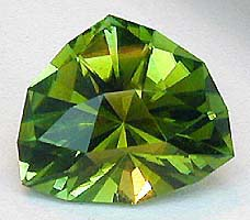 Samurai in green Tourmaline/tourmaline faceting