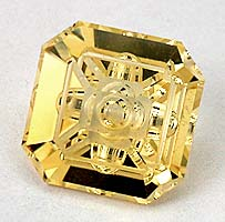 reticulated gold illusion cut - citrine