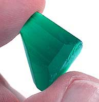 created gemstones - hydrothermal grown emerald