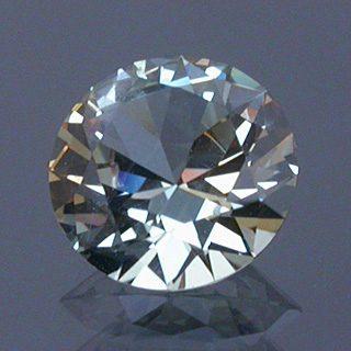 Round Brilliant Cut Sapphire, Montana, U.S.A., 0.73 cts