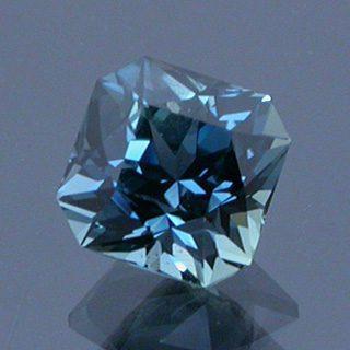 Fancy Square Brilliant Cut Sapphire, Songea, Tanzania, 0.75 cts