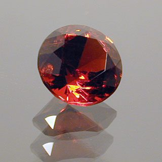 Round Brilliant Cut Spinel, Probably Burmese, 0.40 cts