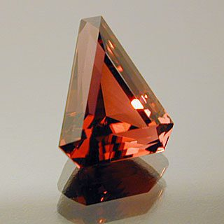 Elongated Step Triangle Cut Rubellite Tourmaline, Africa, 1.99 cts