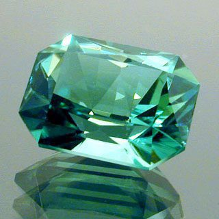 Fancy Emerald Shape Cut Tourmaline, Afghanistan, 1.81 cts