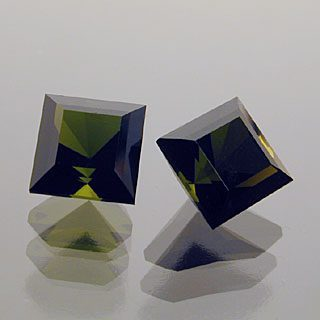 Mini Square Barion Cut Tourmaline Matched Pair, Afghanistan, 1.37 cts
