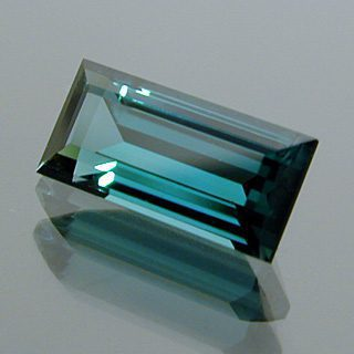 Baguette Cut Indicolite Tourmaline, Afghanistan, 1.01 cts