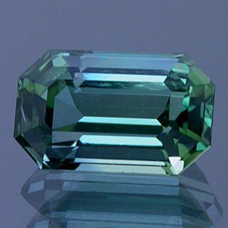 Emerald Cut Bi-Color Tourmaline, Afghanistan, 0.94 cts
