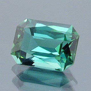 Scissor Topped Emerald Cut Cut Namibian Tourmaline, Namibia, 1.55 cts