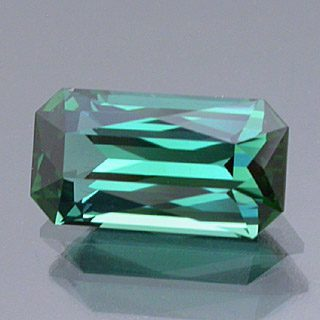 Elongated Scissor Topped Emerald Cut Namibian Tourmaline, Namibia, 1.52 cts