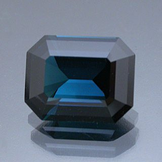 Modified Emerald Cut Indicolite Tourmaline, Afghanistan, 2.37 cts