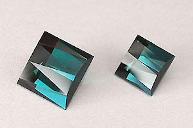 gem cutting business - tourmalines with unique designs
