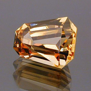 Custom Bullet Shape Cut Imperial Topaz